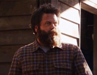 Ron Swanson wins #WildernessWednesday - let us all remember how he retreated to his remote cabin and grew a glorious beard.   #ronswanson #nickofferman #beard #parksandrec