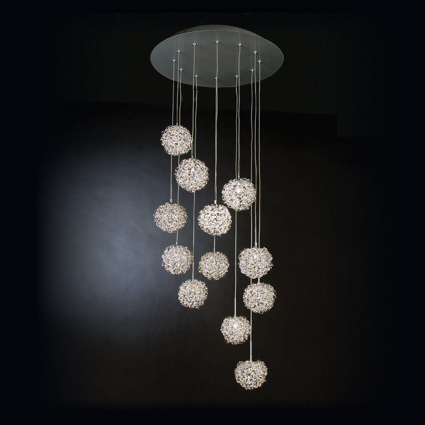 Trend Lighting TP4374 12 Light Snow Ball Chandelier MultiLight