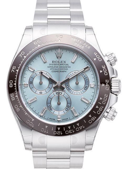Rolex Daytona Platin 116506 Eisblau Diamant Rolex Uhren Watches