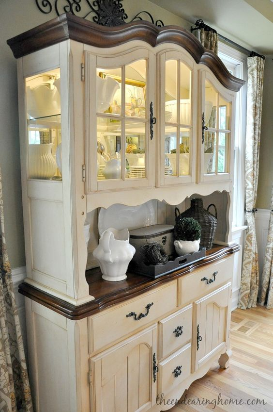 Dining Room Hutch Id Like To Use These Finishes On A More French Provincial Style DVC