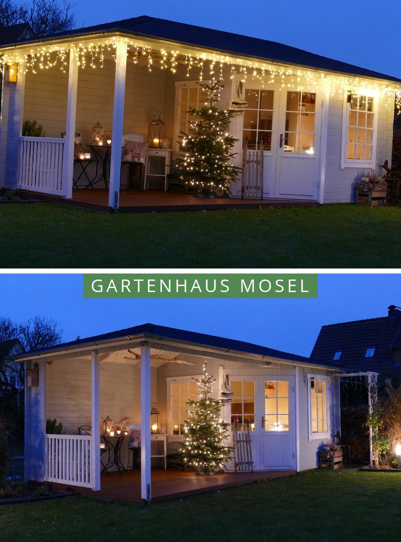 Gartenhaus Weihnachten Das Mosel Gartenhaus Weihnachtlich Gestalten Hier Ein Beispiel 5 Eck Gartenhaus Gartenhaus Garten