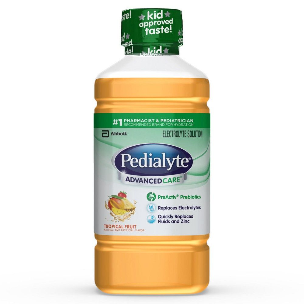 Pedialyte Advancedcare Electrolyte Solution Tropical Fruit