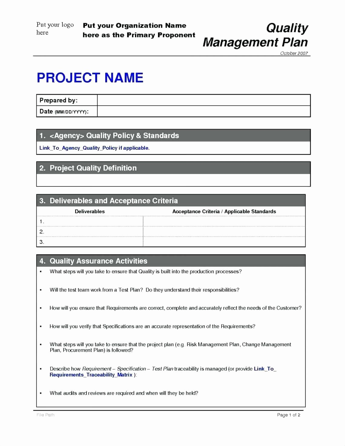 Pin on Example Project Plans Template