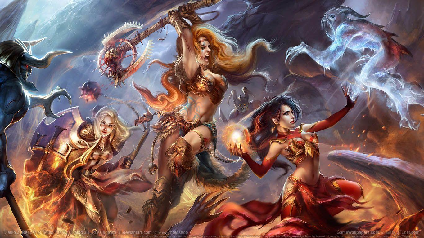 Diablo3 Diablo 3 Fantasy Art Women Diablo