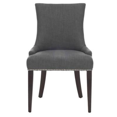 Becca Blue Grey Linen Leather Dining Chair 0845200270 Dining