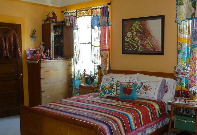 exciting mexican style living rooms | New paint | Mexican home decor, Mexican bedroom, Mexican ...