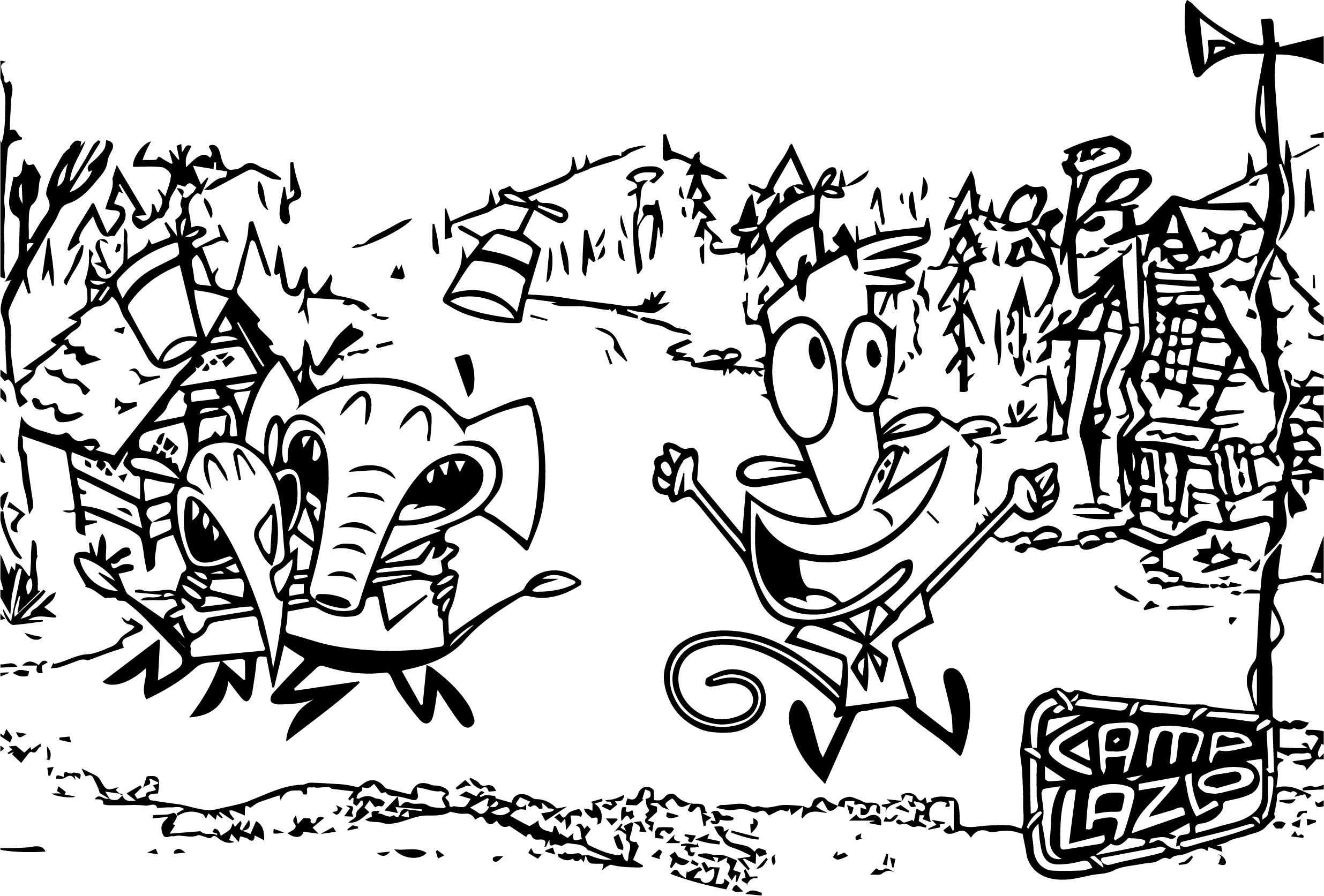 Camp Lazlo Cartoon Network Coloring Page Cartoon Coloring Pages