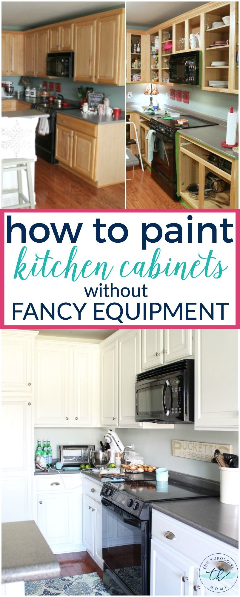 How To Paint Kitchen Cabinets Without Fancy Equipment Kitchen Cabinets Painting Kitchen Cabinets Kitchen Paint