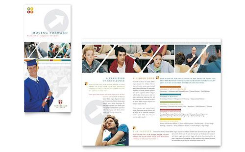 College \ University Brochure Template by @StockLayouts Graphics - university brochure template