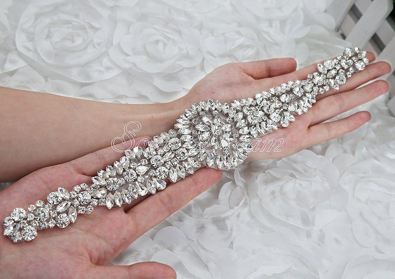 Wedding Dresses Sash Rhinestone Applique DIY Bling Bridal Wedding Crystal Belt