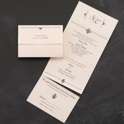 Simply Perfect Seal N Send Ecru Pocket Wedding Invitations