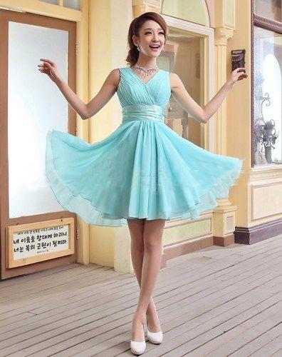 Mint blue lace dress