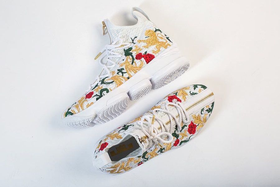 best sneakers 42796 30bae KITH x Nike LeBron 15 | Shoes | Lebron 15 shoes, Embroidery ...