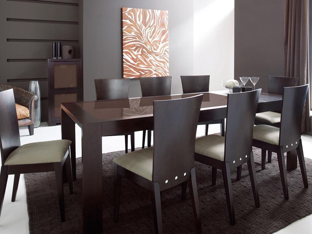 Table de cuisine / salle à manger à rallonges en chêne wengé et ...
