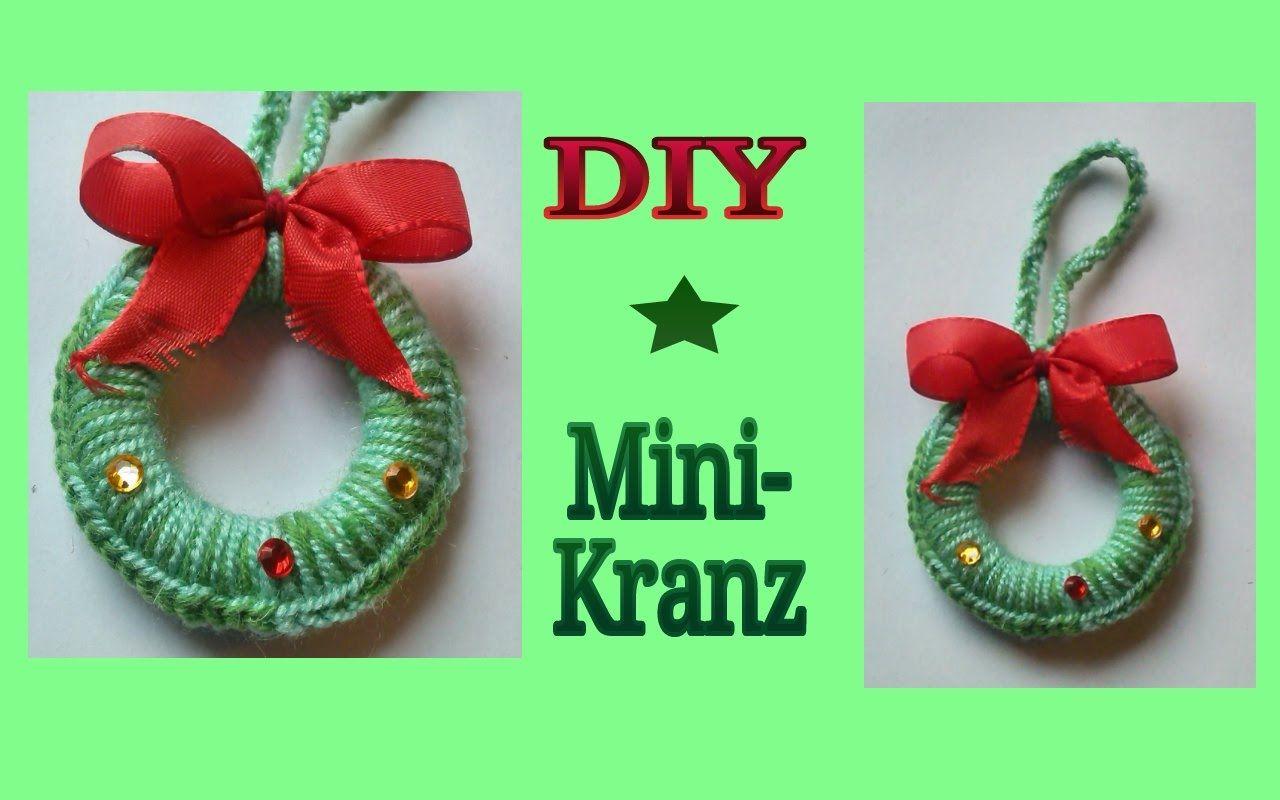 Häkeln für Weihnachten : Mini - Kranz   Weihnachten   Pinterest ...
