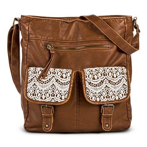 Women s Crochet Pocket Tote Handbag - Brown http   goto.target.com 13dbc320de164