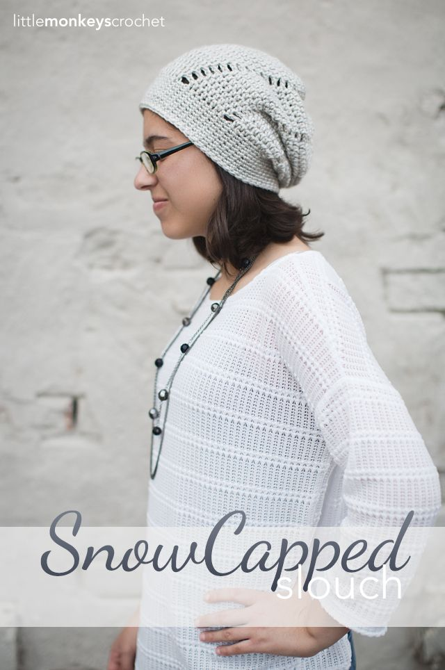 The Snow Capped Slouch Hat (Free Crochet Pattern) | Gorros,Boinas ...