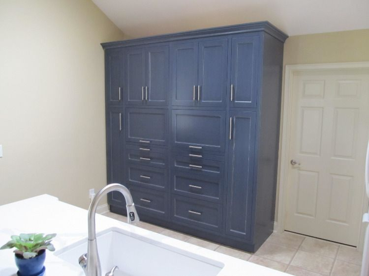 Custom Cabinet By Dixon Cabinets Total Measurements 88 Inches Wide 96 5 Inches Tall 30 Inches Deep 3 Peg Drawer With Images Pantry Cabinet Custom Cabinets Locker Storage