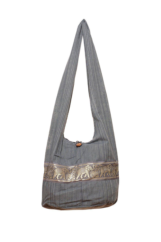 Green Hippie Hobo Bags Crossbody Bags Top Zip Messenger Bag Elephant