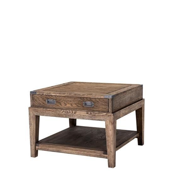 Wooden Side Table Eichholtz Military Wooden Side Table Steel