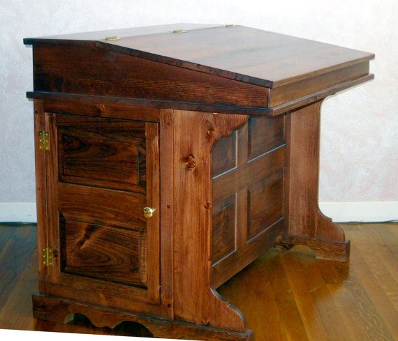 Captain S Desk Davenport Writing Art Study By Arkansaswoodcraft 745 00 Woodworking Table Plans Woodworking Desk Plans Cabinet Woodworking Plans