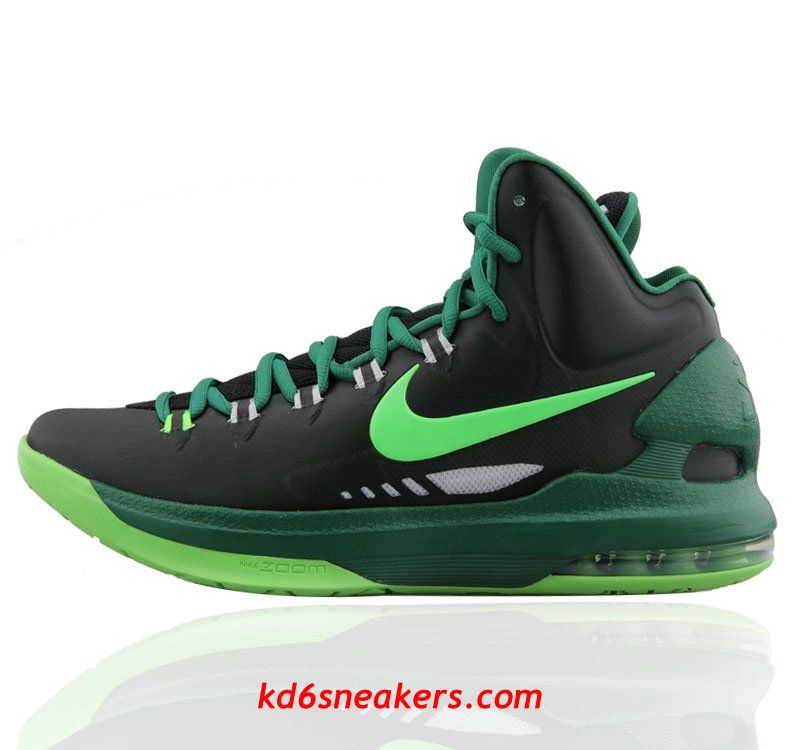 brand new 85e7c 8f4ef Nike KD V KD5 Black Green Kevin Durant Basketball shoes  KD  5