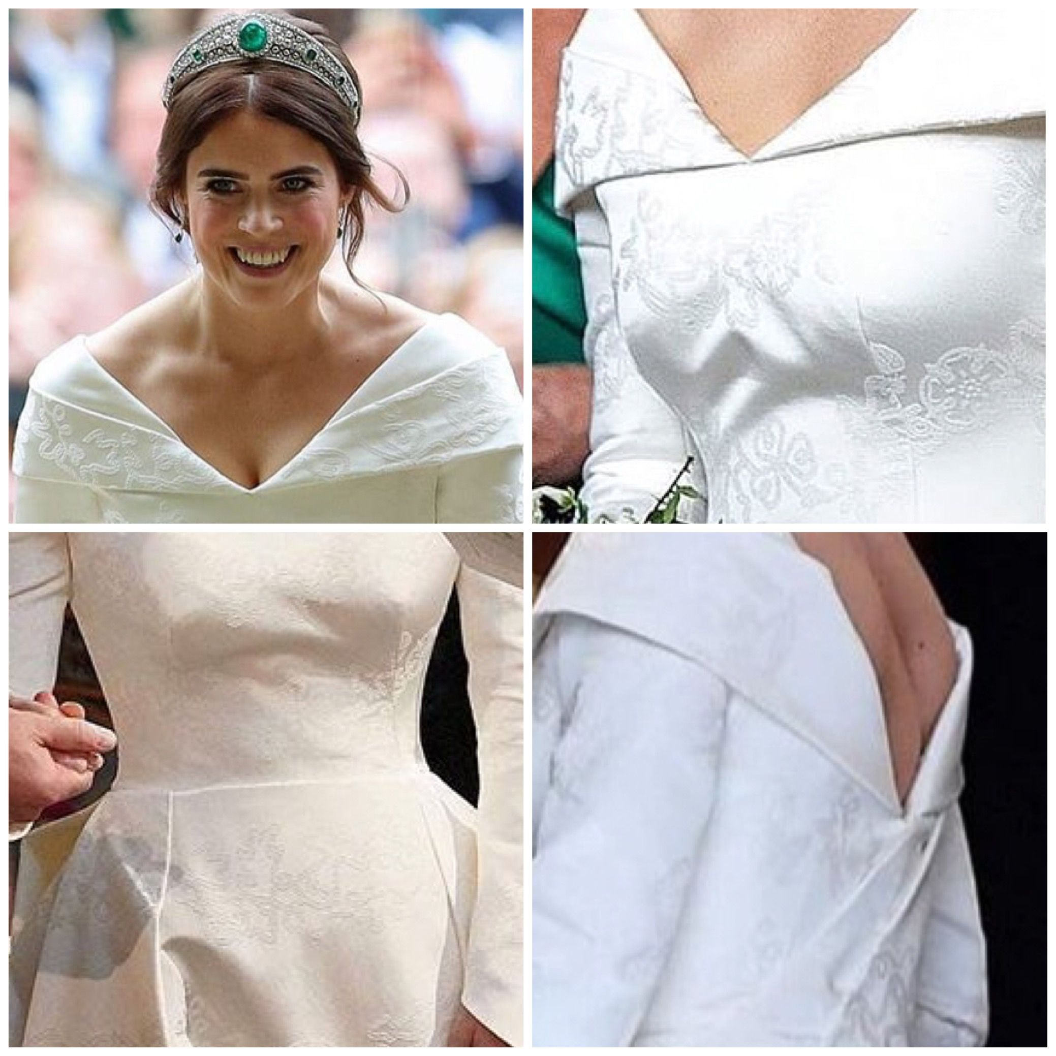 12 10 2018 Details Of The Beautiful Pattern In Eugiene S Dress Royal Wedding Gowns Royal Brides Eugenie Wedding [ 2078 x 2078 Pixel ]