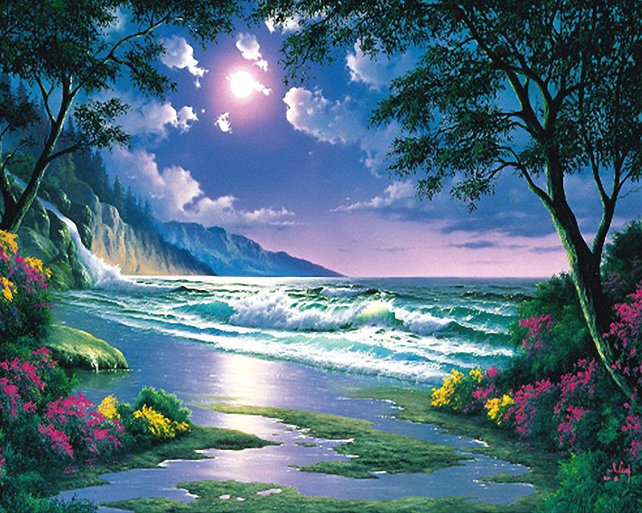Moonlit Paradise\