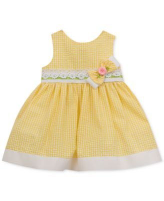Rare Editions Seersucker Dress, Baby Girls (0-24 months) $14.99 A fresh take on classic sweet style, Rare Editions's sleeveless seersucker dress showcases a gorgeous rosette-adorned bow.