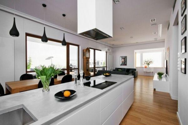 Loft-Wohnung Penthaus Glanz-Küchen Fronten | Project 3 KLC ...
