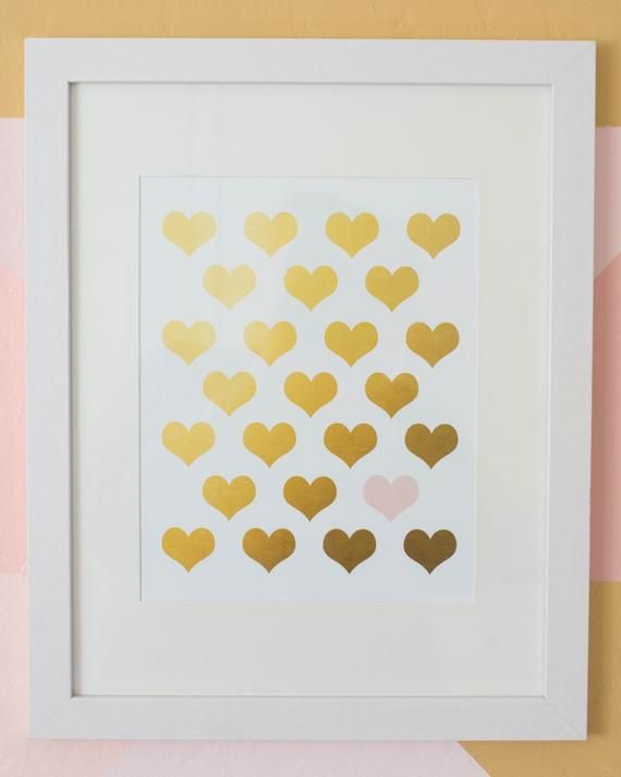 Baby Girl Nursery Blush Pink and Gold Decor Wall Prints
