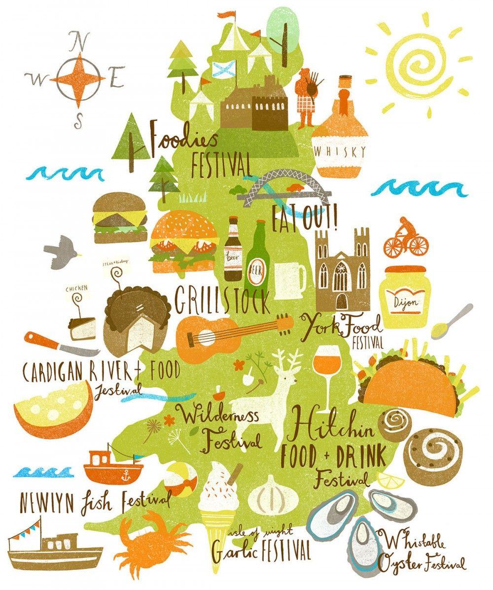 Map Of Uk Festivals.Lauren Radley Uk Food Festivals Map Infographic Maps Map