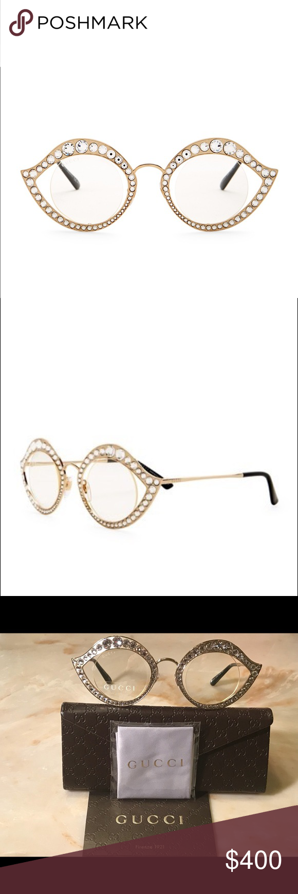 935c2f79fbf Gucci GG4287 S Lips Cat Eye Crystals Sunglasses Authentic Gender  Women s -  Series