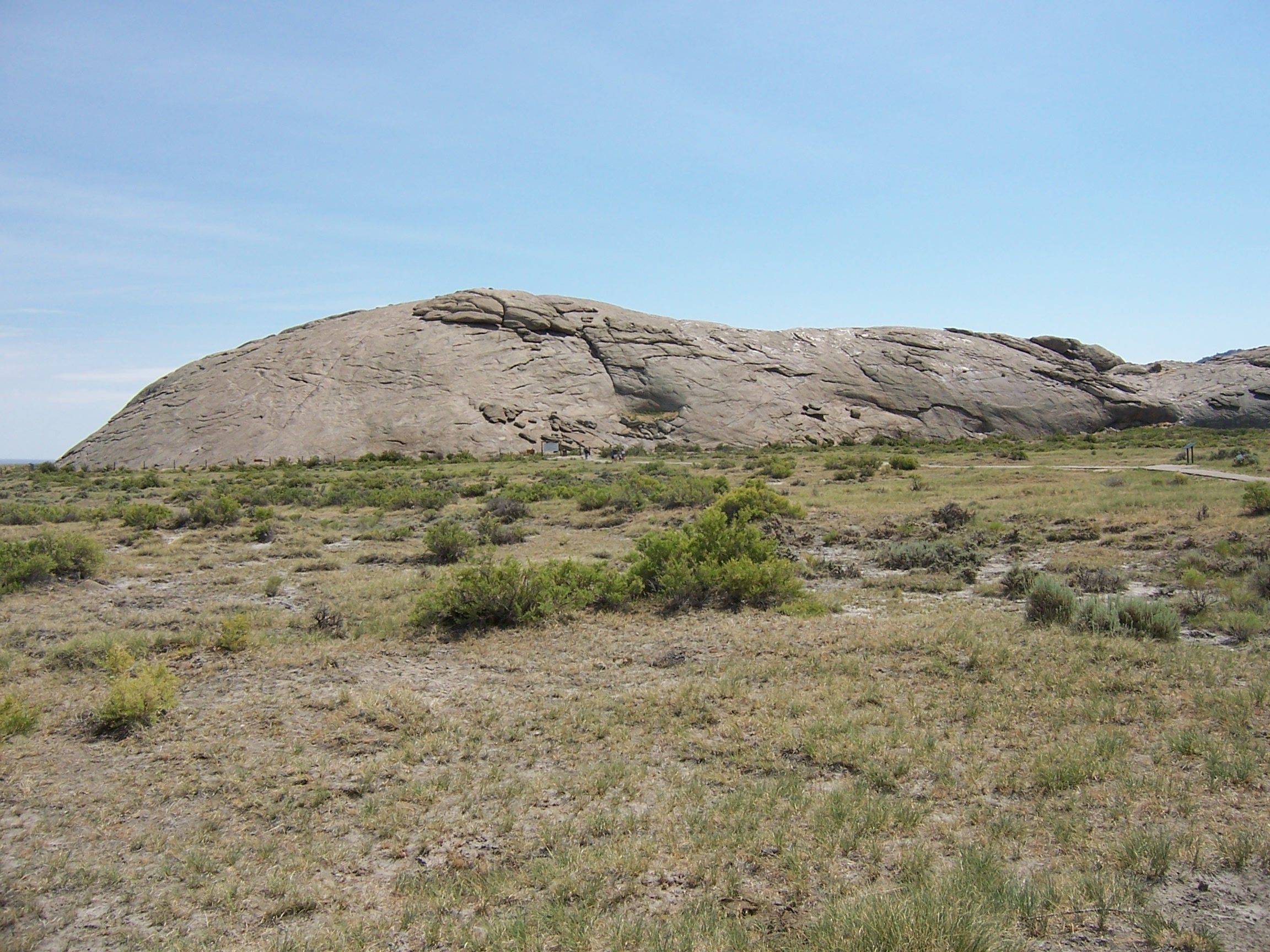 Independence rock on the oregon california trail now in