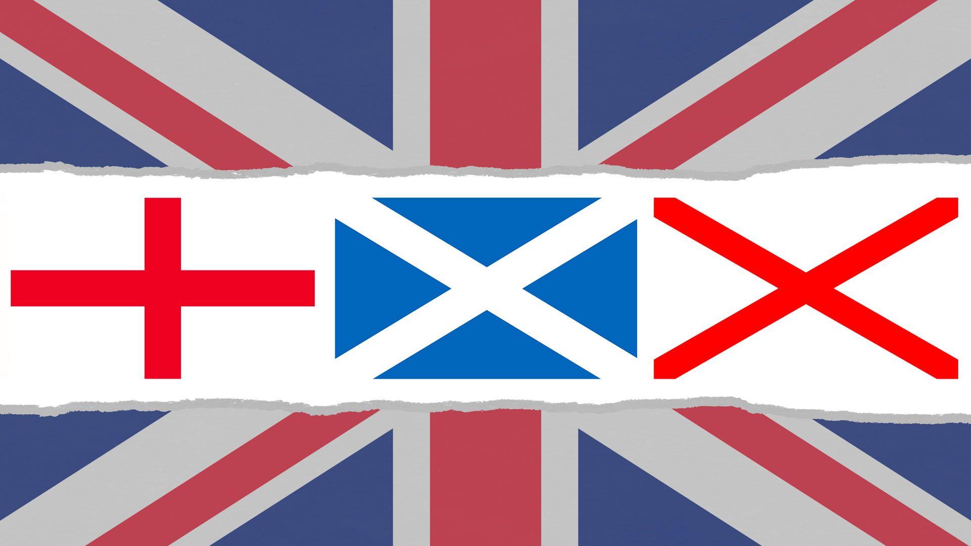 Cruces que componen la Bandera del Reino Unido | Banderas y escudos ...