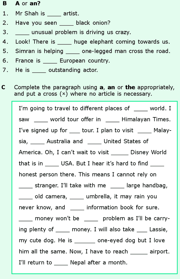 Grade 6 Grammar Lesson 6 Articles and nouns (5) | Grade 6 ...