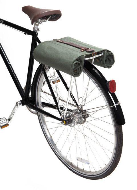 Linus Market Bag Waxed Canvas Double Cycle Pannier 163 94