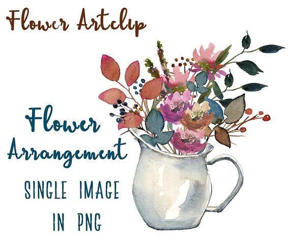 Flower Vase Clipart Flower Clipart Vase Clipart Flower Watercolor