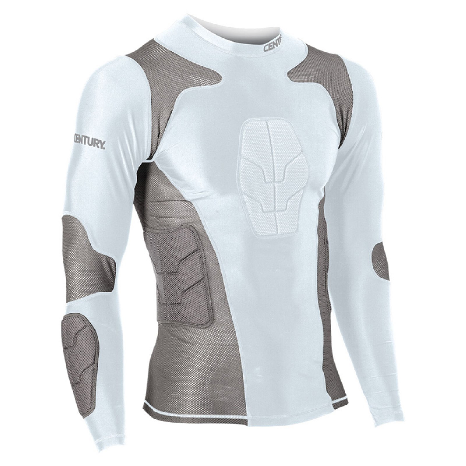0cec515fd Century Long Sleeve Padded Compression Shirt White | Products in ...