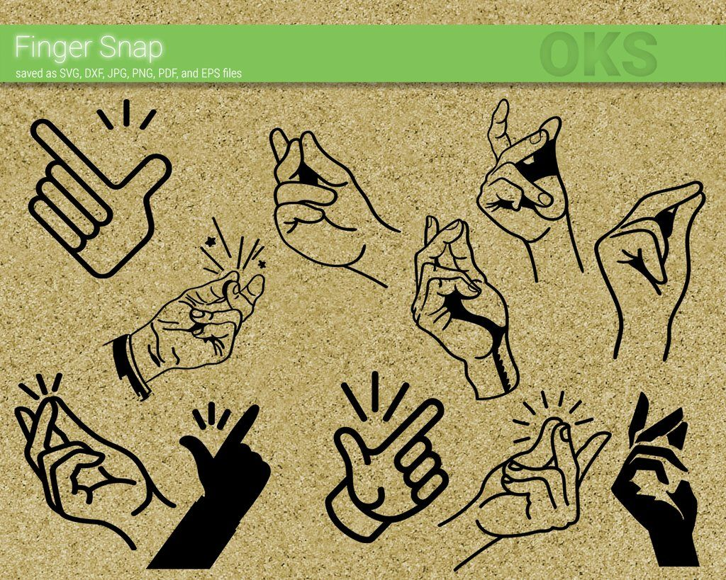 finger snap svg dxf vector eps clipart cricut download clip art svg dxf pinterest