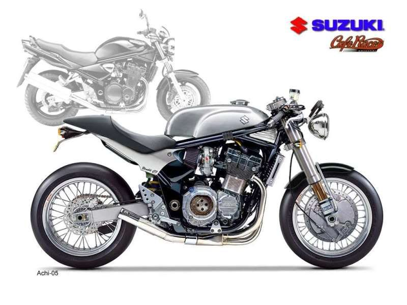 custom cafe style suzuki bandit 400 not a huge fan, interesting