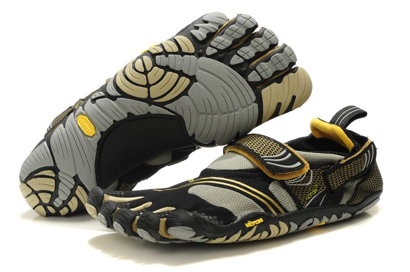 sale retailer 6f291 3d8dc Women Vibram Five Fingers Komodo Sport Shoes Black Grey Yellow  Vibram  Fivefingers0135  -  79.99