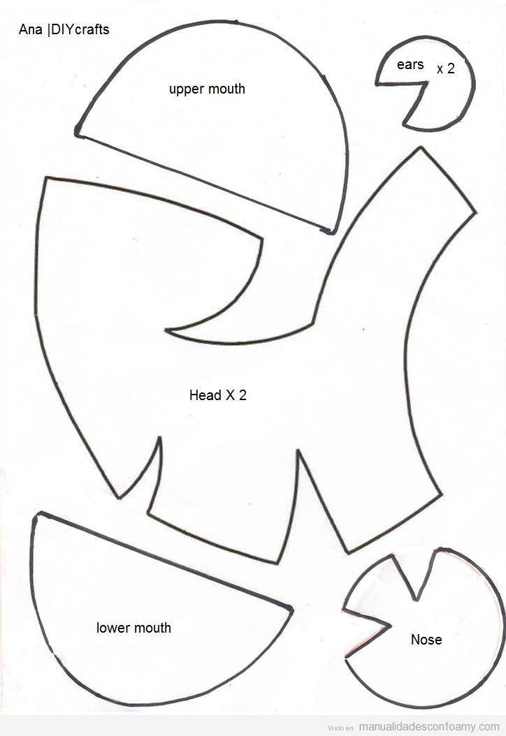 Descargar gratis patrón marioneta gomespuma | Molde | Pinterest ...