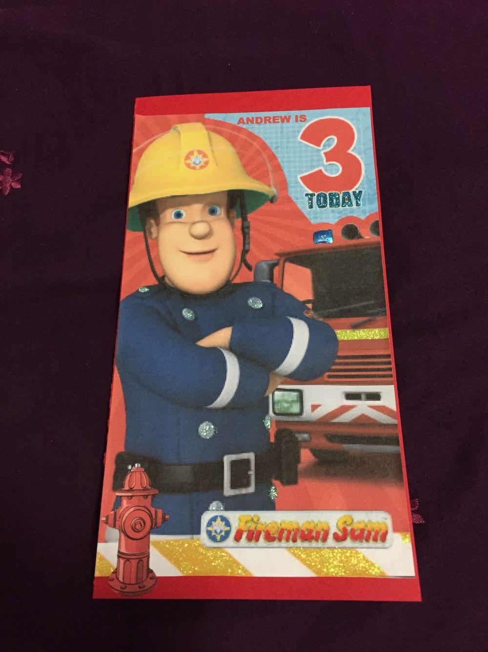 Fireman Sam Birthday Card Fireman Sam Party Pinterest Fireman