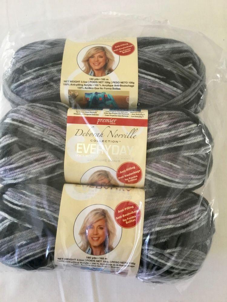 3Pk Premier Yarns Deborah Norville Collection Everyday Solid Yarn-Black