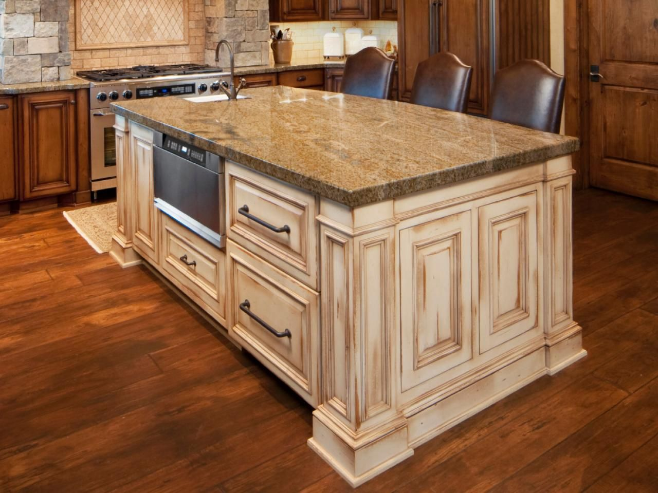 Stationary Kitchen Islands  Antiques Rectangle Shape And Design Delectable Kitchen Islands Design Inspiration