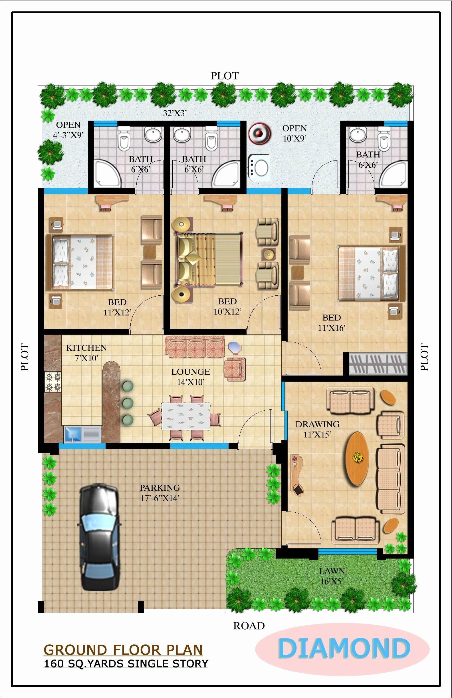 80 Square Yards House Design Model House Plan Single Floor House Design My House Plans
