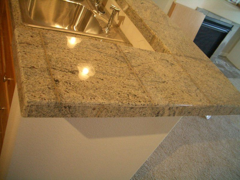 Granite Tile Kitchen Countertop And Bar Granite Tile Kitchen