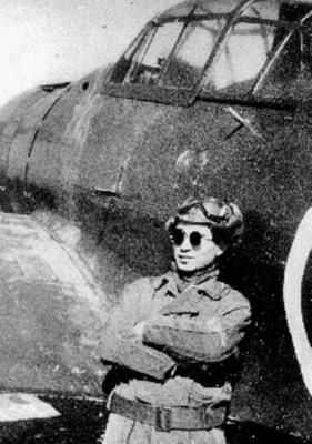 Japanese Forces - japanese ace tetsuo iwamoto with his zero fighter in 1945 -Pin it by GUSTAVO BUESO-JACQUIER