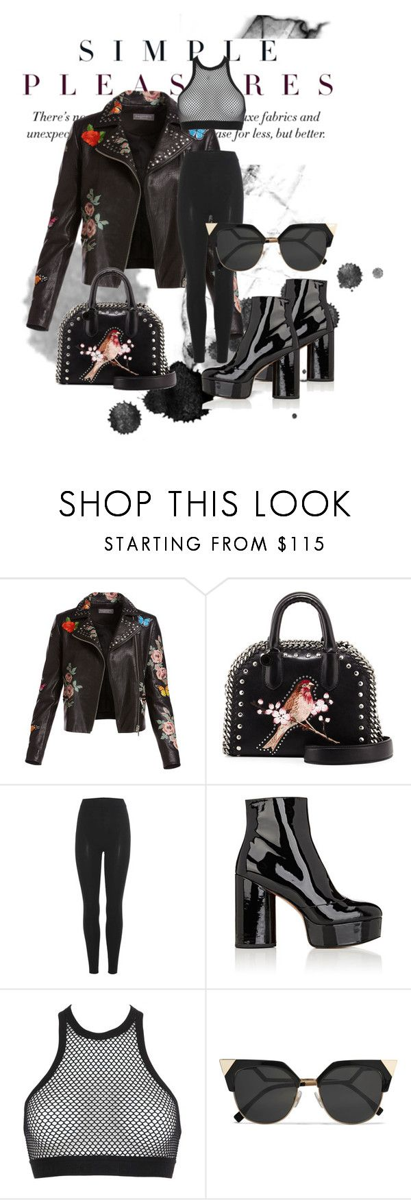 """All black"" by danvy ❤ liked on Polyvore featuring Bagatelle, STELLA McCARTNEY, adidas Originals, Marc Jacobs, Dsquared2 and Fendi"